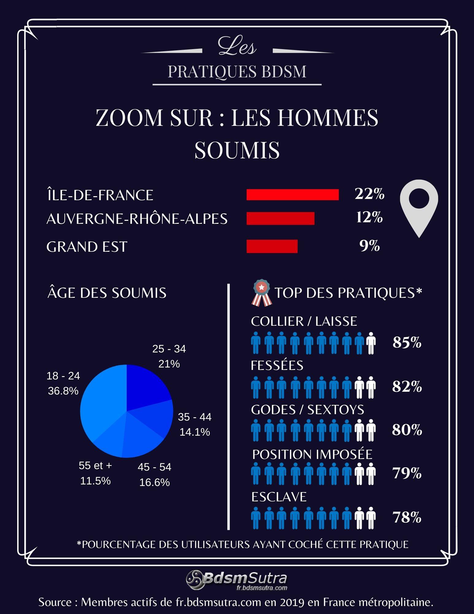 Statistiques sur les hommes soumis en France en 2019